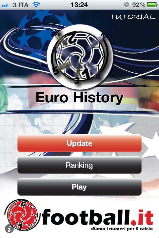 Screenshot iFootball Europei History